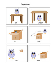 Learn Prepositions Flashcards 2: PAGES 3