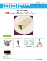 Chicken Wrap  Visual  Recipe And Comprehension Sheets: Pages 36