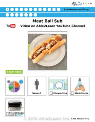 Meatball Submarine Sandwich Visual  Recipe And Comprehension Sheets: Pages 28