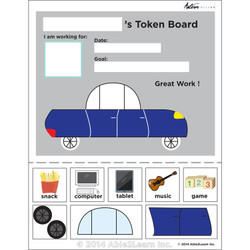 Token Board - Car - 3 Tokens