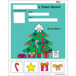 Token Board - Christmas Tree - 4 Tokens