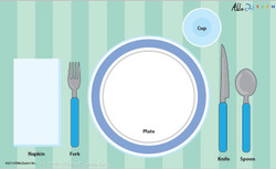 Place Setting for Boys