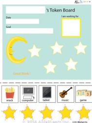 Token Board - Creative Moon - 5 Tokens