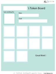 Token Board - Simple Happy Face - 10 Tokens