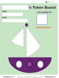 Token Board - Sail Boat - 4 Tokens