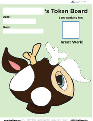 Token Board - Deer - 4 Tokens