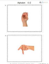 Sign Language A-Z Flash Cards
