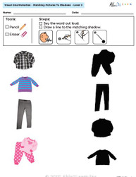 Visual Discrimination - Matching Pictures to Shadows - Clothing (Lv. 2B)