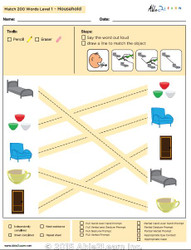 Household Identical Picture  Matching Program with ABLLS-R™ Words (Lv. 1)