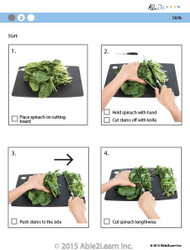 Cooking Skills - How to Cut Spinach