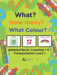 Transportation Adapted Books - Counting 1 - 5 (Lv. 1) -19 Pages