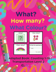 TRANSPORTATION THEMED PRINTING BOOK - COUNTING 1 - 10 (LV. 2)-19 PAGES