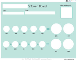 Money Token Board - Adding Dimes: B  With  Visual Support: 2 Pages