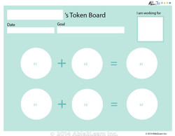 Money Token Board - Adding Loonie:  With  Visual Support C: 2 Pages