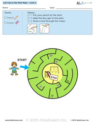 Let's Go to the Park Maze Lv. 2 - 1 Page