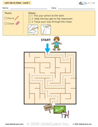 Let's go to Class Maze Lv. 1 - 1 Page