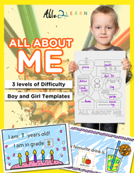 All About Me: Include all Children of various levels in one lesson or encourage your child to learn the material while progressing through the levels.
