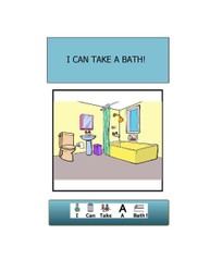 I CAN TAKE A BATH Social Story:  BASIC LIVING SKILLS 13 PAGES