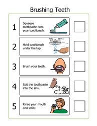 I CAN BRUSH MY TEETH: STEP BY STEP CHECKLIST:  2 PAGE