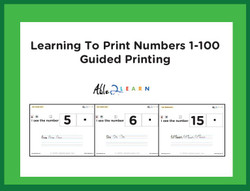 I SEE Matching Numbers 1-100 and Guided Printing  Adapted Book Level 2:  PAGES 140