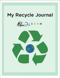 Recyling Journal With Accomodations: Writing: Earth Day: Social Studies: 10  Pages