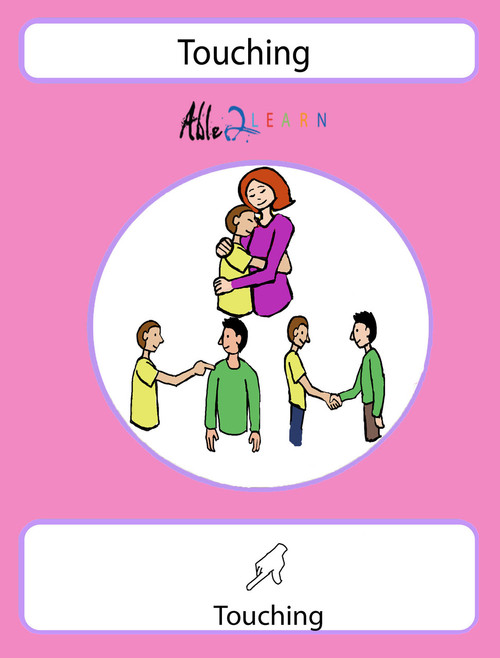 Different Types of Touching  Social Story: Pages 21