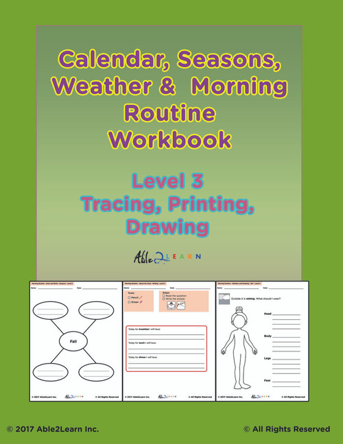 Morning Calendar Level 3:  Days of Week, Months, Seasons and More:  PAGES 92
