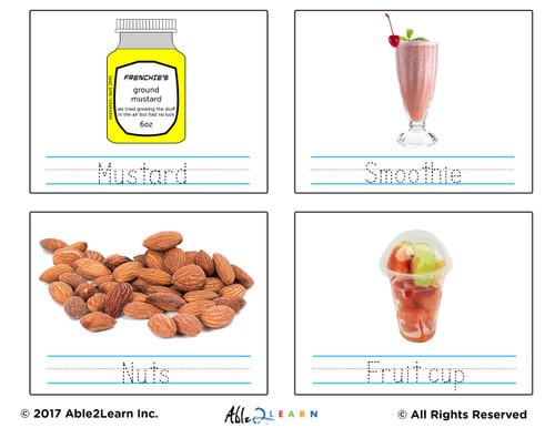 Food Flashcards Free Printable