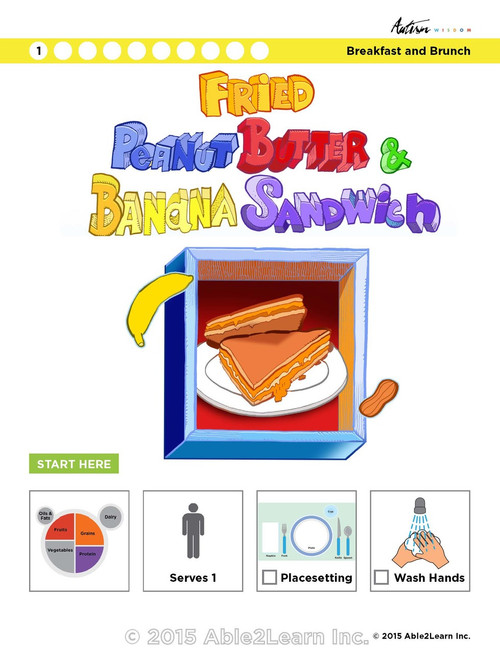 Fried Peanut Butter and Banana Sandwich Visual Recipe: Step by Step: Pages 10