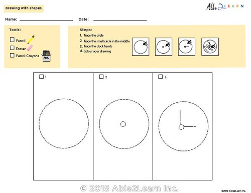 Drawing With Shapes - How to Draw a Clock
