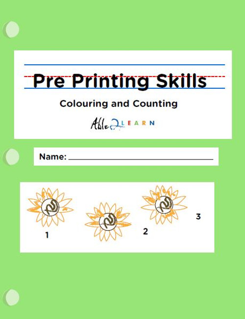 Pre-Printing Skills - Colouring and Counting