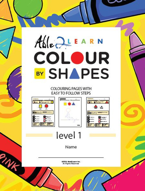 Colour By Shapes Workbook: Level 1: 51 Pages