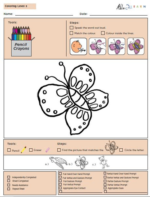 Colouring Program Level 3b - 10 Pages