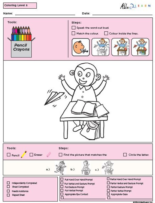 Colouring Program Level 5b -10 Pages