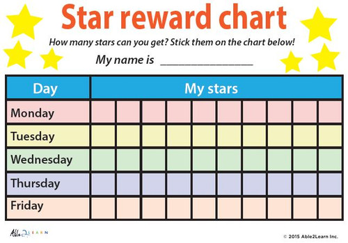 Token Board - My Stars Weekly Reward Chart: Pages 2