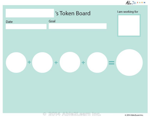 Money Token Board - Adding Quarters:  No Visual Support: 2 Pages