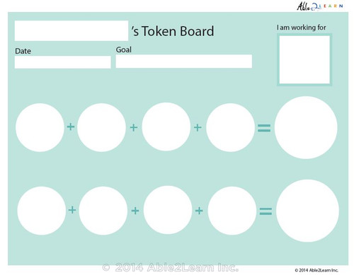 Money Token Board - Adding Quarters: Level B No Visual Support: 2 Pages