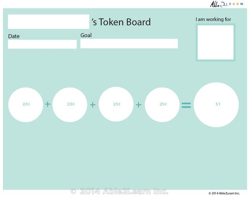 Money Token Board - Adding Quarters:  Visual Support: 2 Pages