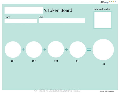 Money Token Board - Adding Quarters: Level C  Visual Support: 2 Pages