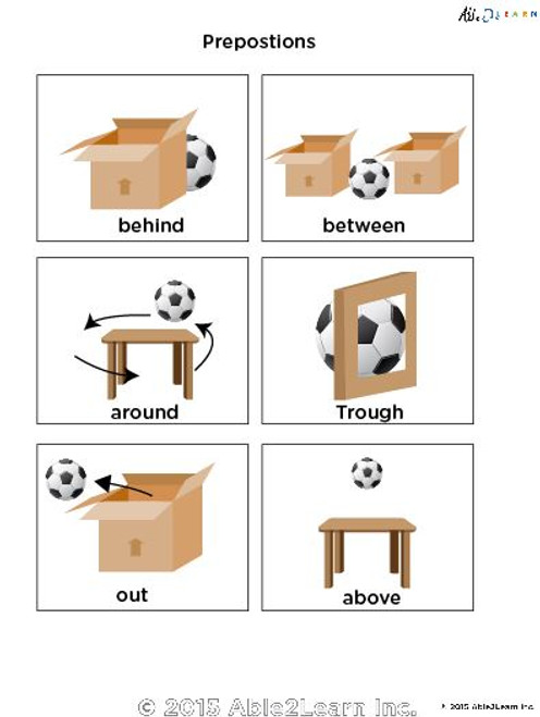 Learn Prepositions: Flashcards: Free Teaching Resources
