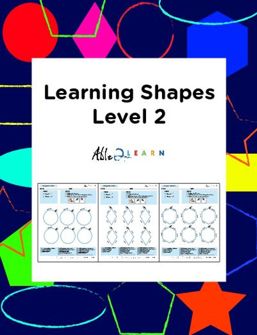 Learn To Identify & Draw Shapes: Level 2: 12 Pages