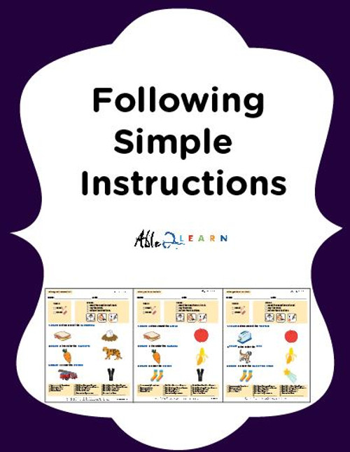 Following Simple Directions: Pages 18