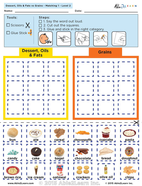 Dairy vs Protein: The Food Group: Level 2 8 Pages