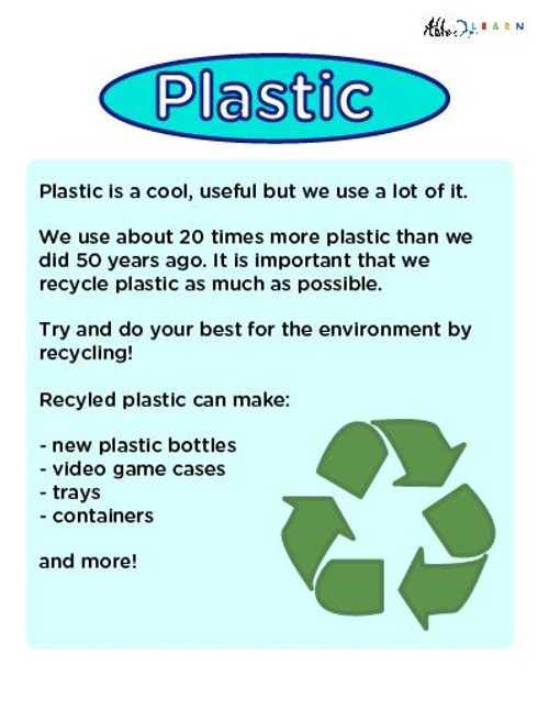 Plastic Poster Free Teaching Resources