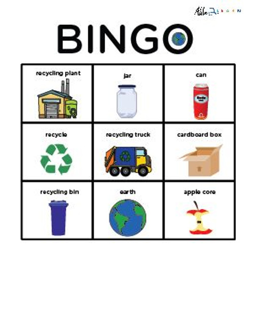Recycling and Earth Day Bingo: Social Studies 8 Pages