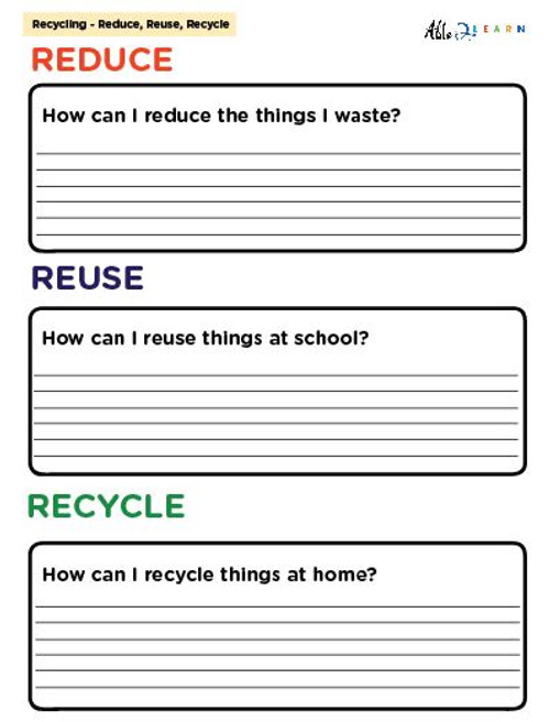 Free The 3 Rs Question Reduce Reuse Recycle