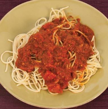 Free Spaghetti And Tomato Sauce Visual Recipe