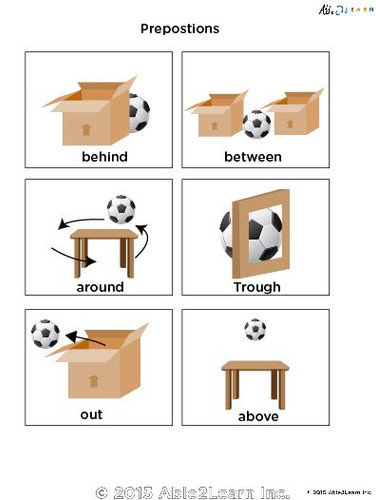 Learn Prepositions Flashcards Free Teaching Resources