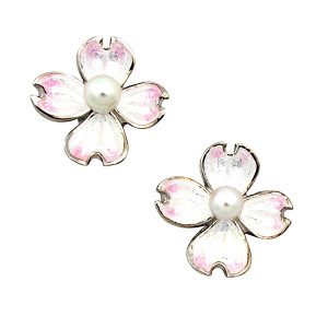 Dogwood Flower Stud Earrings