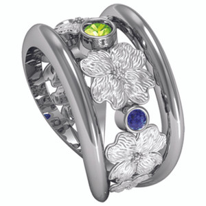 Sea Mist Dogwood Ring